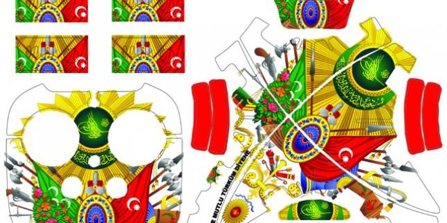 Phantom 3 yeni sticker 4 pilli set Kod:013