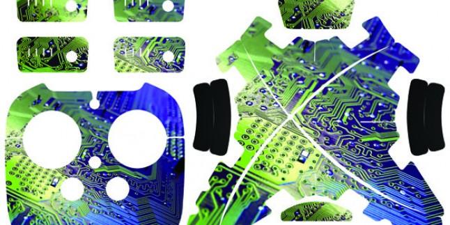 Phantom 3 yeni sticker 4 pilli set Kod:016