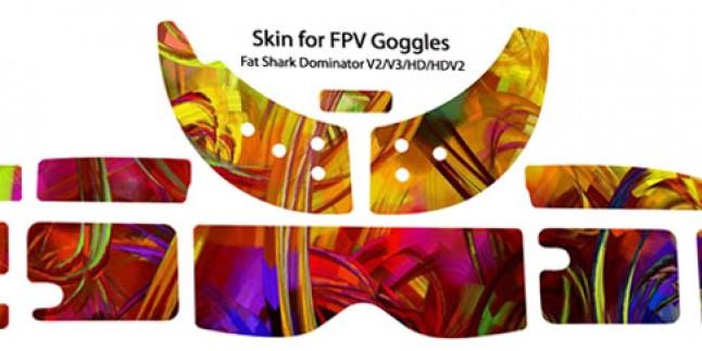 Fat Shark Dominator v1 / v2 kod:0015 - DJI STICKERS